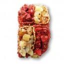 Bracelet en pierre de Rocaille carré Rouille & Or