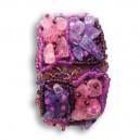 Bracelet en pierre de mauve & rose